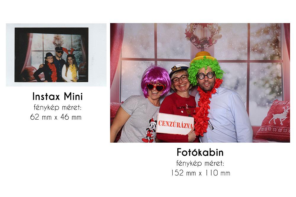 Instax Mini és Fotókabin fénykép összehasonlítás