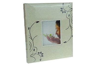 12. Közepes méretű, vajszínű, ablakos, 29x24cm, 30 lap / 60 oldal