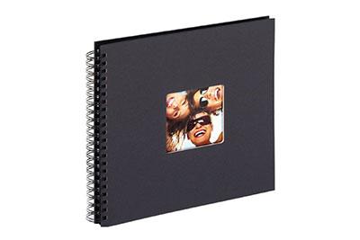 22. Nagyméretű, spirálos, fekete színű, ablakos, 30x30cm, 25 <b>fekete</b> lap / 50 <b>fekete</b> oldal