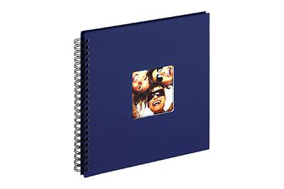 23. Nagyméretű, spirálos, kék színű, ablakos, 30x30cm, 25 <b>fekete</b> lap / 50 <b>fekete</b> oldal
