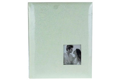 9. Közepes méretű, rózsás, ablakos, 29x24cm, 30 lap / 60 oldal